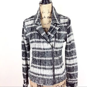 Lucky Brand Tweed Moto Jacket S